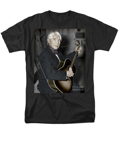 Carl Sandburg With Guitar Men's T-Shirt  (Regular Fit) by Martin Konopacki Restoration