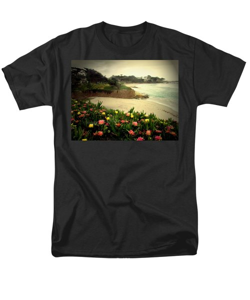 Carmel Beach And Iceplant Men's T-Shirt  (Regular Fit) by Joyce Dickens