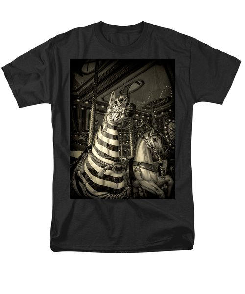 Carousel Zebra Men's T-Shirt  (Regular Fit) by Caitlyn Grasso