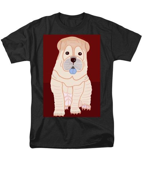 Cartoon Shar Pei Men's T-Shirt  (Regular Fit) by Marian Cates