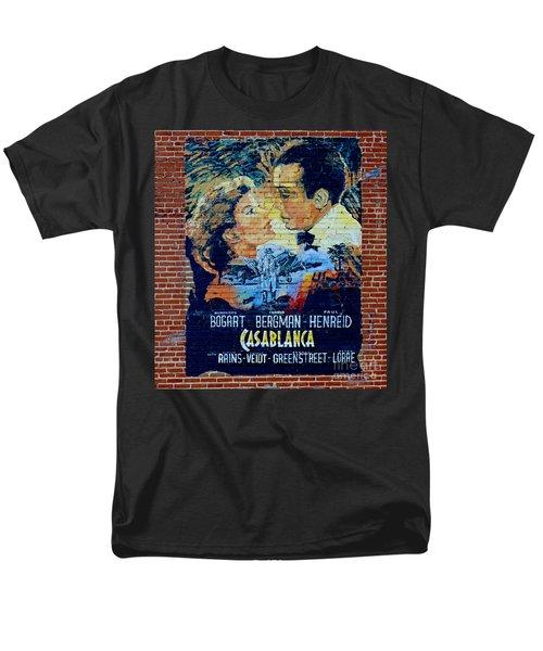 Men's T-Shirt  (Regular Fit) featuring the photograph Casablanca Mural 2013 by Padre Art