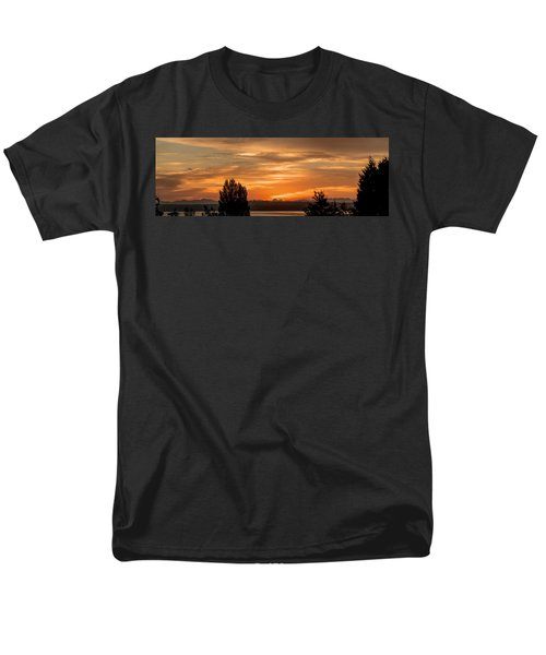 Cascade Mountains - Sunrise Panorama Men's T-Shirt  (Regular Fit) by E Faithe Lester
