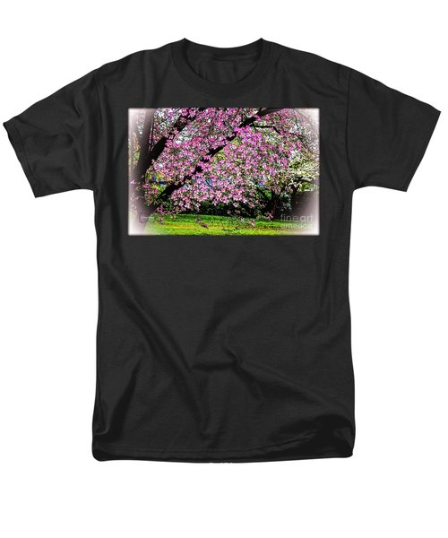 Cascading Dogwood Copyright Mary Lee Parker 17, Men's T-Shirt  (Regular Fit) by MaryLee Parker