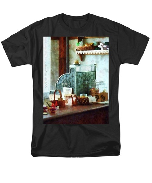 Men's T-Shirt  (Regular Fit) featuring the photograph Cash Register In General Store by Susan Savad