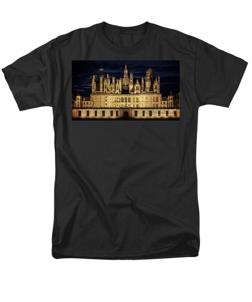 Men's T-Shirt  (Regular Fit) featuring the photograph Castle Chambord Illuminated by Heiko Koehrer-Wagner