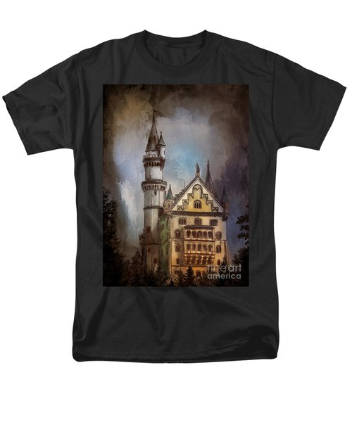 Men's T-Shirt  (Regular Fit) featuring the painting Castle Neuschwanstein by Andrzej Szczerski
