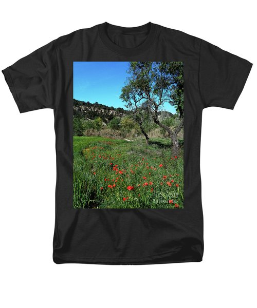 Catalan Countryside In Spring Men's T-Shirt  (Regular Fit) by Don Pedro De Gracia