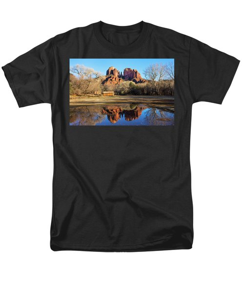 Men's T-Shirt  (Regular Fit) featuring the photograph Cathedral Rock, Sedona by Barbara Manis