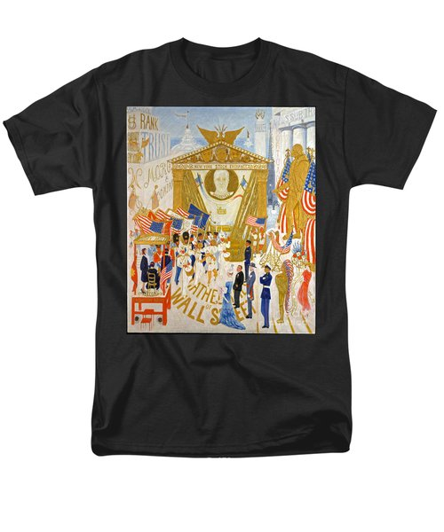 Men's T-Shirt  (Regular Fit) featuring the photograph The Cathedrals Of Wall Street - History Repeats Itself by John Stephens