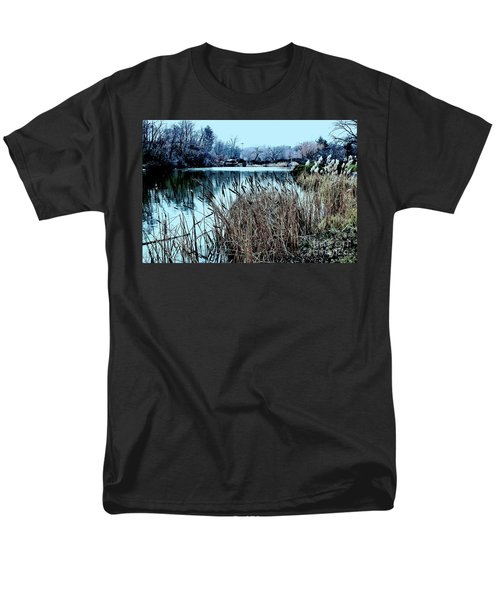 Cattails On The Water Men's T-Shirt  (Regular Fit) by Sandy Moulder