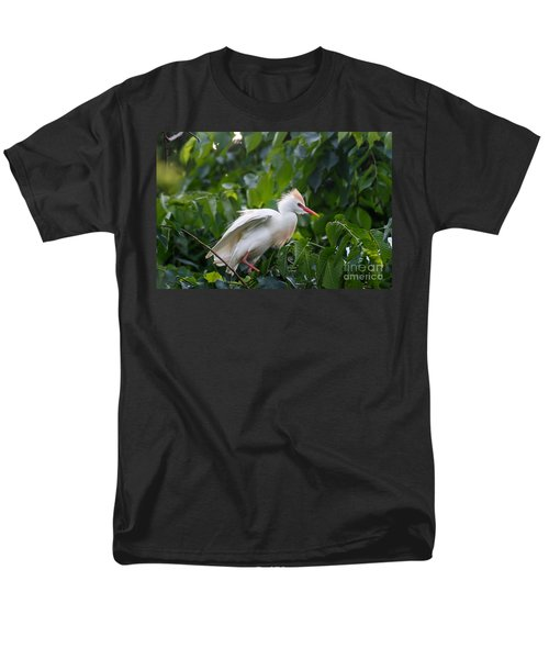 Cattle Egret At Rest Men's T-Shirt  (Regular Fit)