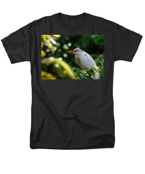 Cattle Egret In Oklahoma Men's T-Shirt  (Regular Fit)