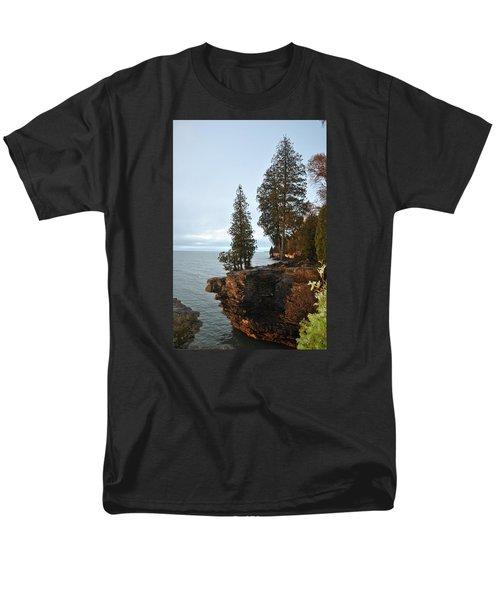 Cave Point Men's T-Shirt  (Regular Fit) by Linda Goad