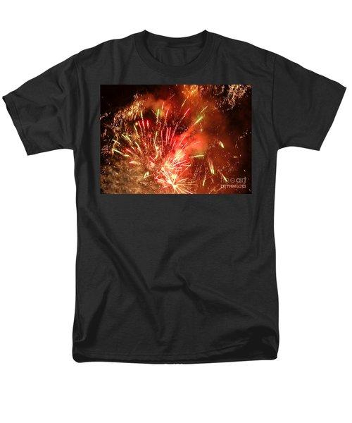 Celebratory Fireworks And Firecrackers Light Up The Sky Men's T-Shirt  (Regular Fit)