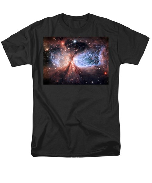 Men's T-Shirt  (Regular Fit) featuring the photograph Celestial Snow Angel - Enhanced - Sharpless 2-106 by Adam Romanowicz