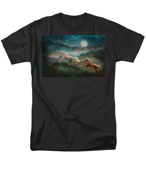 Celestial Stallions Men's T-Shirt  (Regular Fit) by Melinda Hughes-Berland