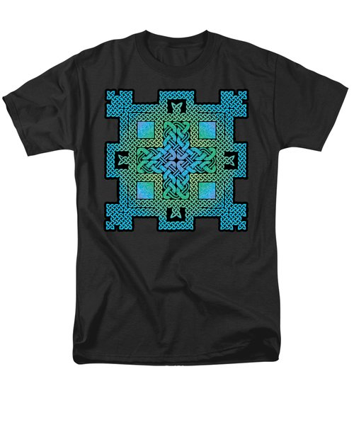 Men's T-Shirt  (Regular Fit) featuring the mixed media Celtic Castle by Kristen Fox