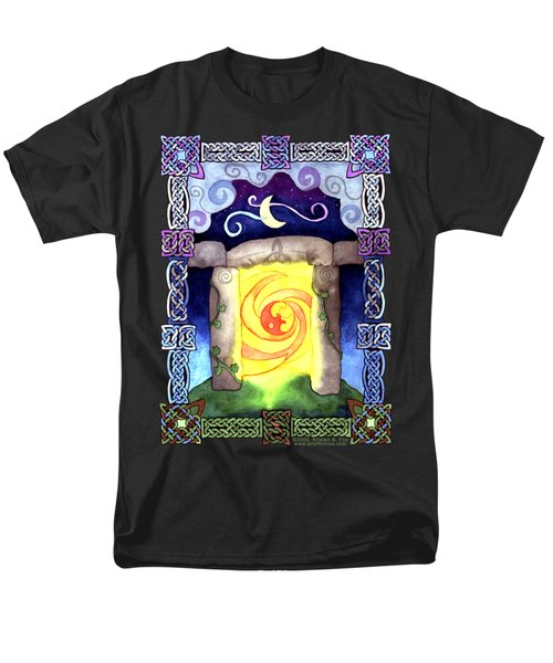 Men's T-Shirt  (Regular Fit) featuring the painting Celtic Doorway by Kristen Fox