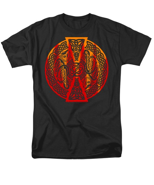 Men's T-Shirt  (Regular Fit) featuring the mixed media Celtic Dragons Fire by Kristen Fox