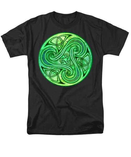 Men's T-Shirt  (Regular Fit) featuring the mixed media Celtic Triskele by Kristen Fox