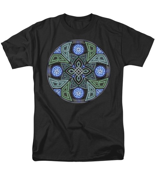 Celtic Ufo Mandala Men's T-Shirt  (Regular Fit) by Kristen Fox