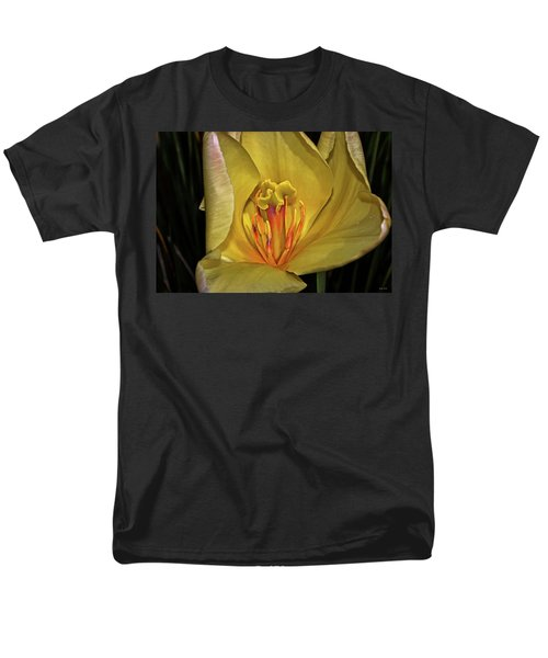 Centerpiece - Grand Opening Yellow Tulip 001 Men's T-Shirt  (Regular Fit) by George Bostian