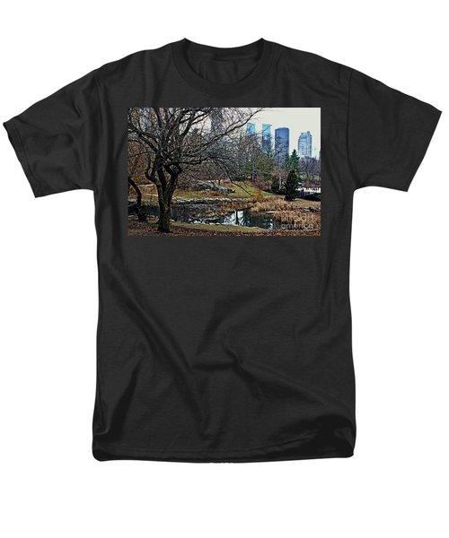Central Park In January Men's T-Shirt  (Regular Fit) by Sandy Moulder