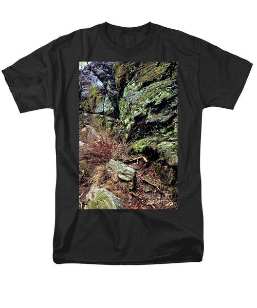 Central Park Rock Formation Men's T-Shirt  (Regular Fit) by Sandy Moulder