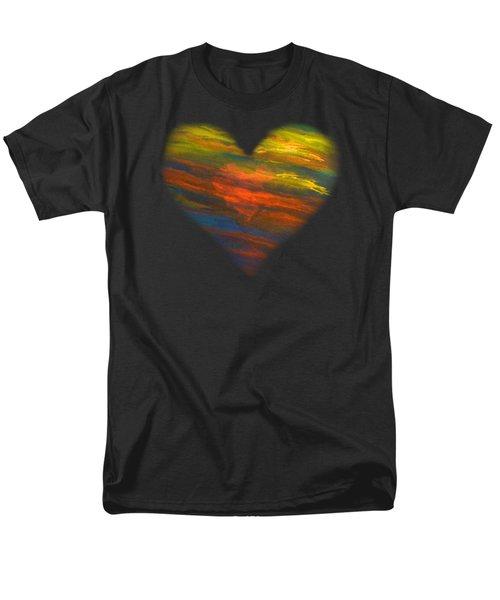 Chakra Energy With Heart Men's T-Shirt  (Regular Fit) by Deborha Kerr