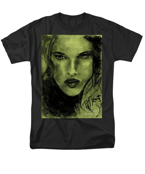 Men's T-Shirt  (Regular Fit) featuring the drawing char-Carol by P J Lewis