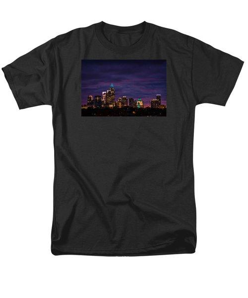 Charlotte, North Carolina Winter Sunset Men's T-Shirt  (Regular Fit) by Serge Skiba