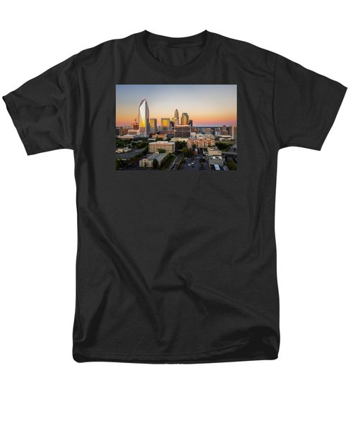 Men's T-Shirt  (Regular Fit) featuring the photograph Charlotte Skyline At Sunset by Serge Skiba