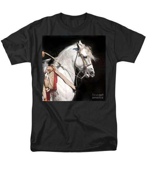 Charro Stallion Men's T-Shirt  (Regular Fit) by Jim and Emily Bush