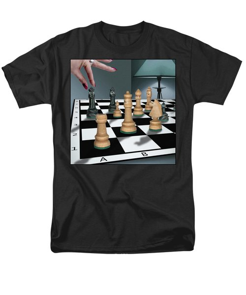 Checkmate Men's T-Shirt  (Regular Fit) by Marty Garland