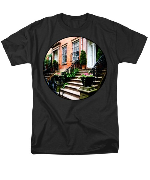 Chelsea Brownstone Men's T-Shirt  (Regular Fit) by Susan Savad