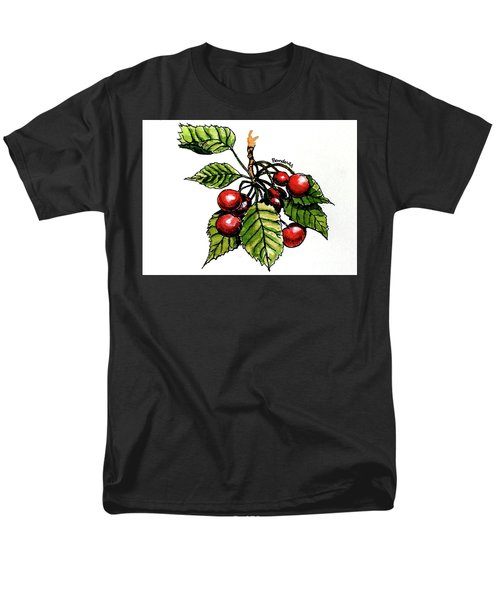 Men's T-Shirt  (Regular Fit) featuring the painting Cherries by Terry Banderas