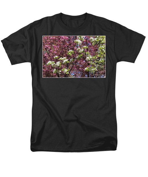 Cherry Tree And Pear Blossoms Men's T-Shirt  (Regular Fit) by Dora Sofia Caputo Photographic Art and Design