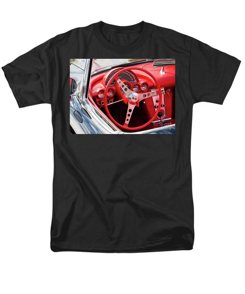 Men's T-Shirt  (Regular Fit) featuring the photograph Chevrolet Corvette Dash by Chris Dutton