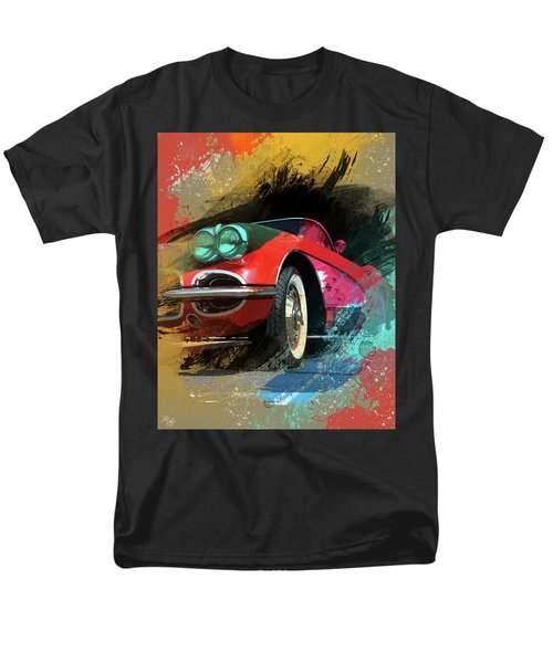 Chevy Corvette Digital Art Men's T-Shirt  (Regular Fit) by Ron Grafe
