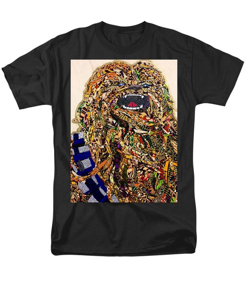 Men's T-Shirt  (Regular Fit) featuring the tapestry - textile Chewbacca Star Wars Awakens Afrofuturist Collection by Apanaki Temitayo M