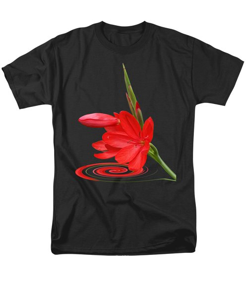 Chic - Ritzy Red Lily Men's T-Shirt  (Regular Fit) by Gill Billington