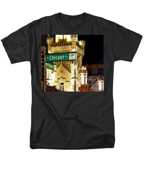 Chicago Avenue  Men's T-Shirt  (Regular Fit) by Elizabeth Coats