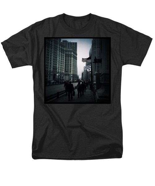 Chicago City Fog Men's T-Shirt  (Regular Fit) by Frank J Casella