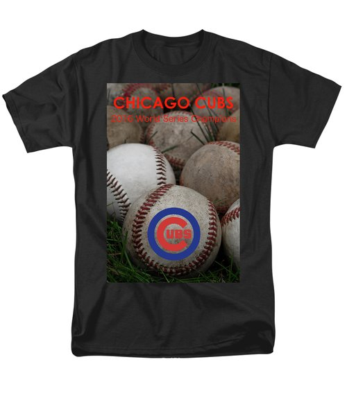 Chicago Cubs World Series Poster Men's T-Shirt  (Regular Fit) by David Patterson