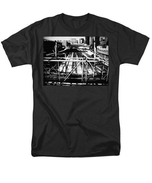 Chicago Railroad Yard Men's T-Shirt  (Regular Fit) by Kyle Hanson