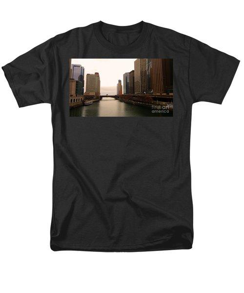 Chicago Rive Men's T-Shirt  (Regular Fit) by Elizabeth Coats