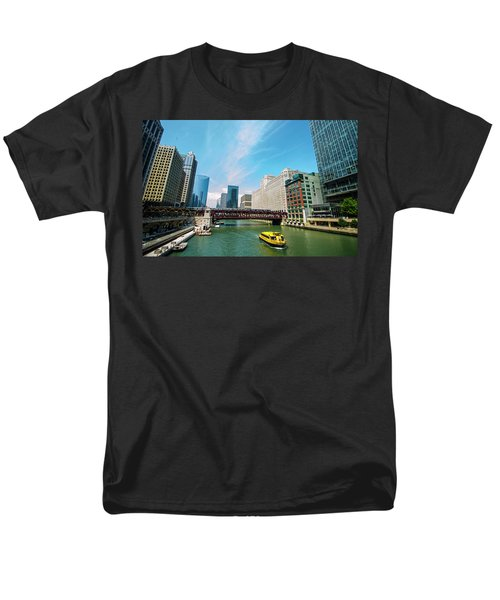 Men's T-Shirt  (Regular Fit) featuring the photograph Chicago, That Toddlin' Town by Deborah Smolinske