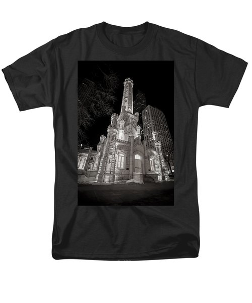 Chicago Water Tower Men's T-Shirt  (Regular Fit) by Adam Romanowicz