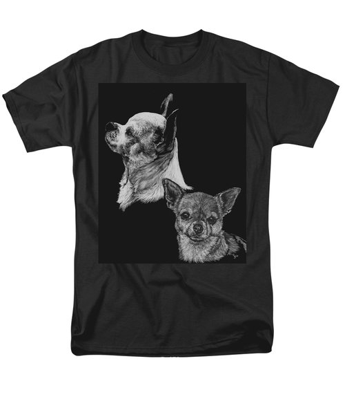 Men's T-Shirt  (Regular Fit) featuring the drawing Chihuahua by Rachel Hames