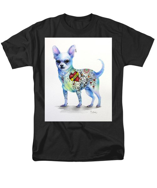 Chihuahua Topo Men's T-Shirt  (Regular Fit) by Patricia Lintner